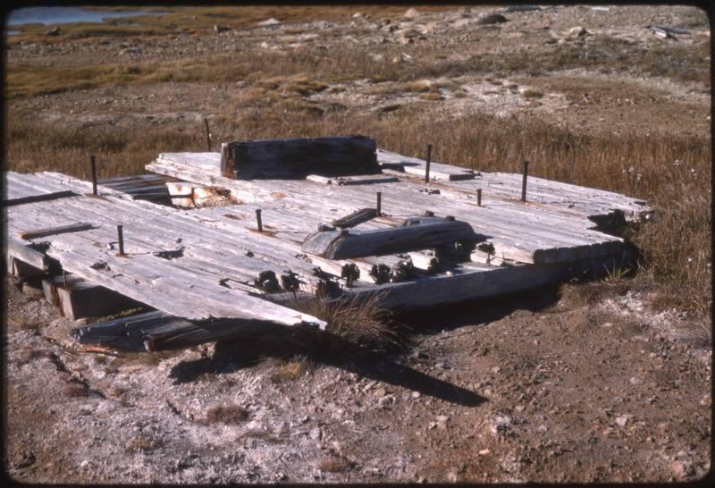 North end of Cape Parry, Ship decking (Sept '76)0.jpg