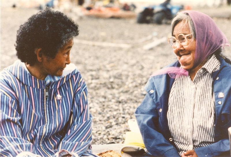 https://arrl-web002.artsrn.ualberta.ca/icrc/201801-upload/Qikiqtaruk - Herschel Island- Cultural Study/Herschel Is- Cultural Study- Sarah Meyook and Dora Malegana at Shingle Pt- 1990-  Yukon Heritage Branch.jpg