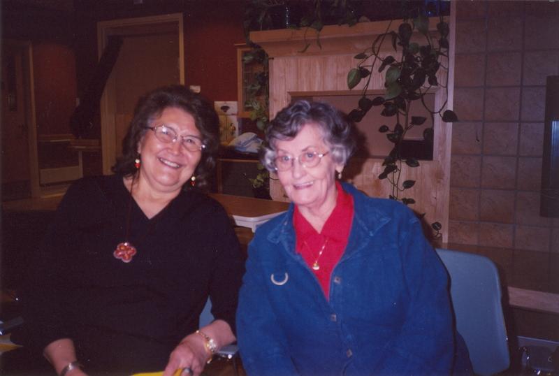 Bertha Allen and Emily Stillwell, Inuvik Elder Program, May 19, 2005.jpg