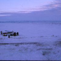 Paulatuk - Cessna 185 on Sea Ice (Nov '74)0.jpg