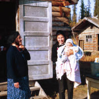 Mrs. Norris and her Daughters near Inuvik