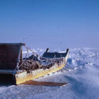 High Arctic Sled in the Winter