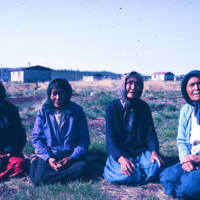 Mary Kunnizzie (far right), Fort McPherson