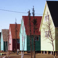 Street photo of colorful Civil Servants' Houses