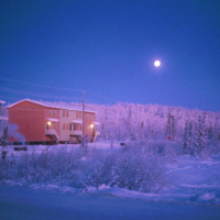 Row Houses in Inuvik at Dawn