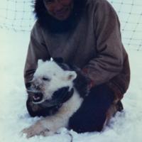 Tim Lennie with a Bear Cub