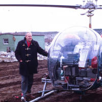 Dr. Hunt With a Helicopter Transport