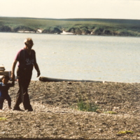 https://arrl-web002.artsrn.ualberta.ca/icrc/201801-upload/Qikiqtaruk - Herschel Island- Cultural Study/Herschel Is Cultural Study- Alec Gordon and grandson at Shingle Pt- July 1990- Yukon Heritage Branch.jpg