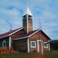 St. Luke's Anglican Church in Old Crow, still standing in 2005