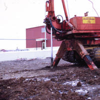 Drilling Machine for the Post Holes in the Permafrost