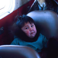 Unhappy Child in Plane